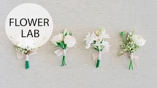Classic White Boutonniere | DIY Wedding Accessories
