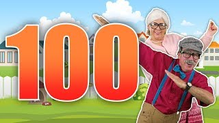 Count to 100 with Grandma and Grandpa | Jack Hartmann