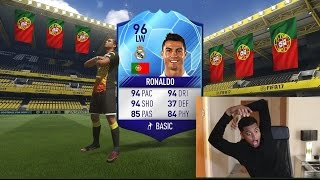 OMFGGGG 96 RONALDO ARE THESE PACKS FAKE!!!?? UNBELIEVABLE FIFA 17 PACK OPENING