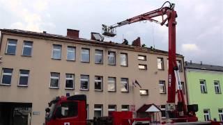 Zerwany dach na Urzędzie Gminy w Korczynie