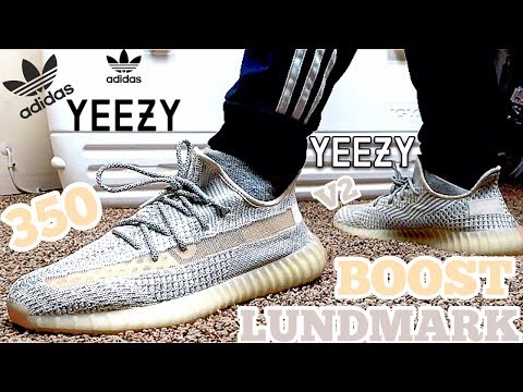 """ADIDAS YEEZY 350 V2 BOOST """"LUNDMARK"""" ON FEET REVIEW"""