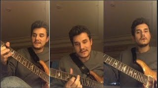 John Mayer Plays Stop This Train Live On Instagram   19 November, 2017  
