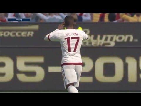 PES 2016 - Malcom fantastic goal! AC Milan ML