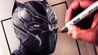 Lets Draw BLACK PANTHER - FAN ART FRIDAY