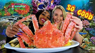 Whole King Crab Mukbang with Janina from Germany's RTL News