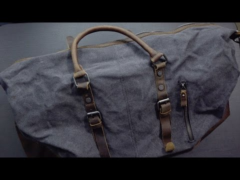 Amazing Canvas/Leather Travel Bag from Estarer