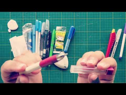 marcadores de tecido eu uso para os meus quiltings