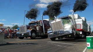 Best of Semi Trucks Drag Racing 2017