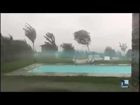 La bomba d'acqua su Piacenza e provincia