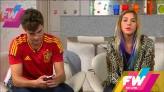 Диего Домингес, Диего и Паулина Ветрано на FansWorld en Vivo (13.06.14)