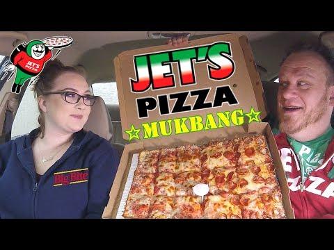 JET'S PIZZA ☆DEEP DISH MUKBANG w/Daughter☆ Food Review!!!