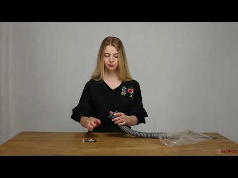 Гофросифон для раковины с разборным выпуском RK02  youtube