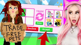 I Pretended To Be POOR In Adopt Me To See What Free Stuff People Would Trade Me... Roblox Adopt Me