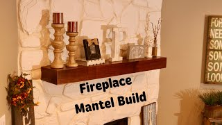 Fireplace Mantel Build || DIY Floating Shelf