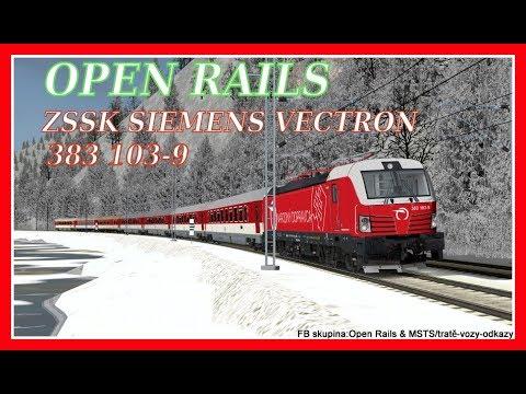 Open Rails(MSTS) IC523(Žilina-Košice),Zssk Siemens Vectron