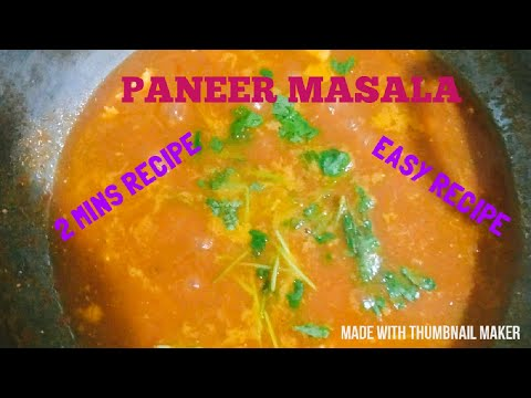 Tasty Paneer Masala | Easy Cooking Recipe | How to make Paneer Masala in 2 Mins | Home Made Dish