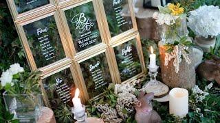 DIY WEDDING DECOR- DOLLAR TREE WEDDING SEATING CHART