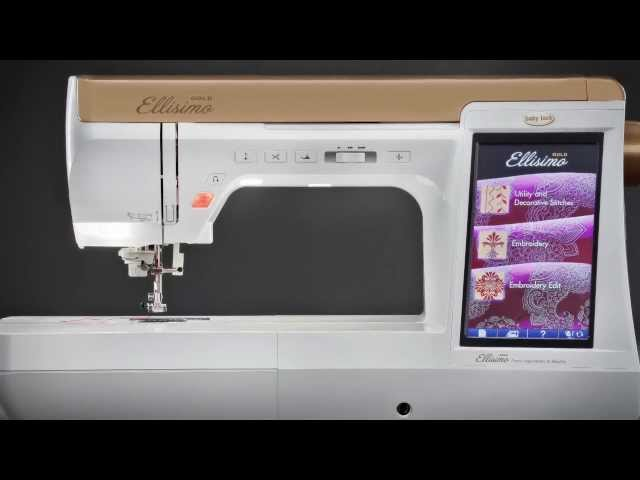 Baby Lock Ellisimo Gold Sewing Quilting Embroidery Machine Simple Ellisimo Sewing Machine