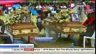 Burial ceremony of a couple who died in the Salgaa accident underway
