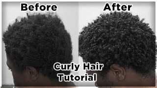 Men's Curly Hair Tutorial | Defined Curls on 4B/4C Hair | King Infinity