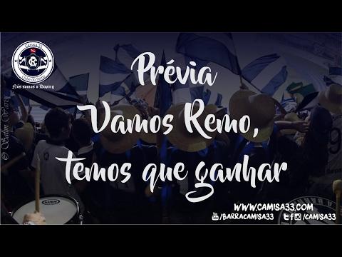 """""""Vamos Remo, temos que ganhar"""" Barra: Camisa 33 • Club: Remo"""