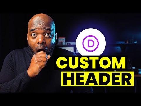Divi Header Design | How to make a custom header in Divi