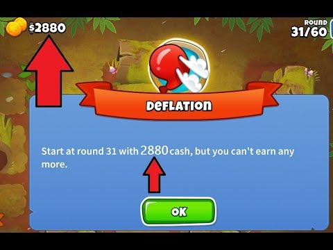 Bloons Tower Defense 6 - Beating Deflation Mode with Only