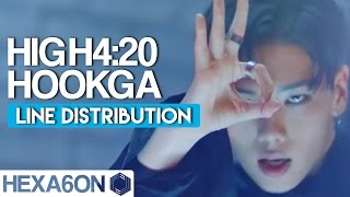 HIGH4:20 - HookGA (Hook가) Line Distribution (Color Coded)