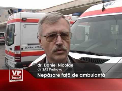 Nepasare faţă de ambulanţă