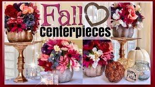 Dollar Tree Fall Pumpkin Flower Arrangement | FALL HOME DECOR | Fall WEDDING Centerpiece Ideas