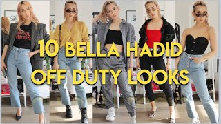 10 Bella Hadid Outfits || Celebrity Style Steal