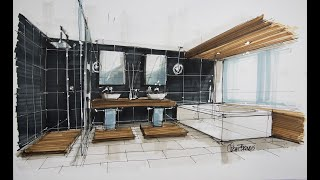 Interior Sketch: Bathroom