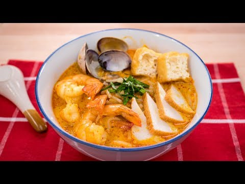 Laksa Recipe – Singaporean Curry Noodle Soup (Laksa Lemak) | Asian Recipes