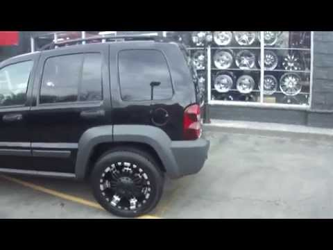 HILLYARD CUSTOM RIM&TIRE 2003 JEEP LIBERTY CUSTOM 18 INCH OFF ROAD WHEELS