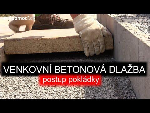 Pokládka venkovní betonové dlažby