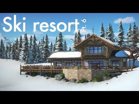 Planet Coaster Ski Resort (Part 6) - Mountainside Restaurant