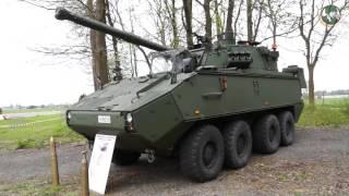 Technical review Piranha IIIC 8x8 armoured vehicle Belgian army Belgium DF30 DF90 ARV IFV