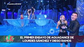 Espiamos el primer ensayo de Diego Ramos y Lourdes Sánchez para el Aquadance