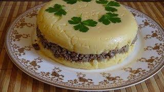 Мясной торт. Быстрый, вкусный и сытный мясной рецепт.