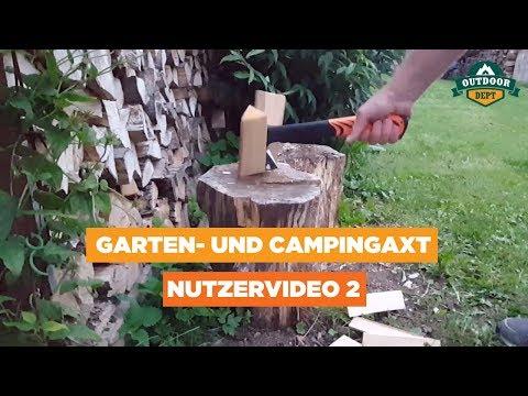 OUTDOOR DEPT Garten- und Campingaxt Nutzervideo 02