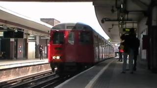 preview picture of video 'A stock returns to the Met! A60 5110 departs Harrow-on-the-Hill 19/05/2013'
