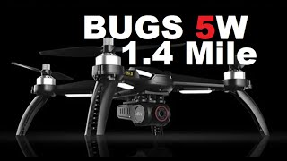 MJX BUGS 5W 1.4 Mile Range MOD 2257 Meters 2.2 KM Simple DIY Test Review