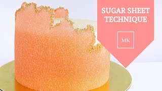 EASY SUGAR SHEET TECHNIQUE │ CAKE DECORATING │ CAKES BY MK
