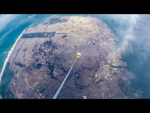 Видео с шара запущенного в стратосферу
