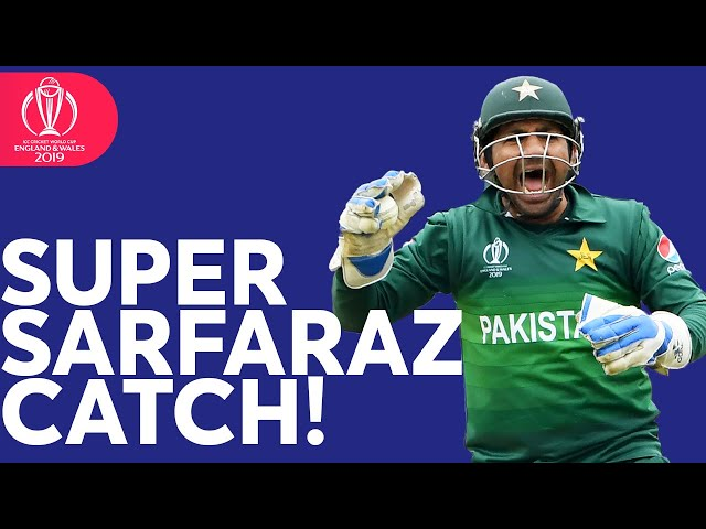 Super Sarfaraz Ahmed's Diving Catch! | ICC Cricket World Cup 2019