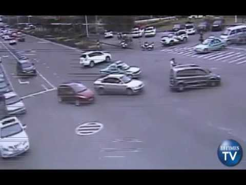 Dad Jumps Out Of Moving Car To Save Baby Girl From Getting Run Over