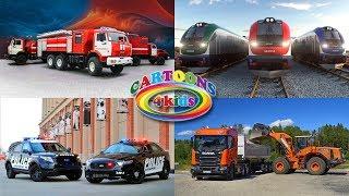 Машинки - изучаем транспорт и цвета, строительную технику / Развивающее видео для детей