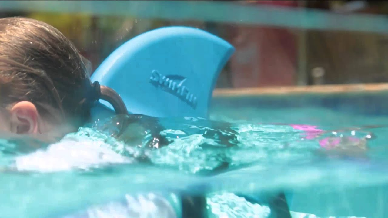 Hajfinnen SwimFin - rød - YouTube