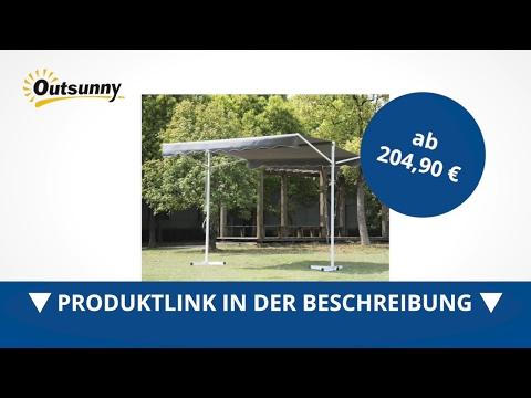 Outsunny Standmarkise Doppelmarkise 3m x 3m x 2 6m Weinrot - direkt kaufen!