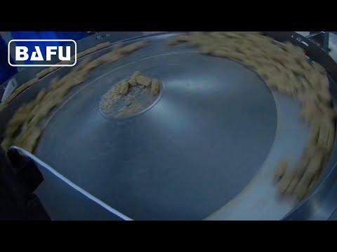 sistema de alimentación rotatorio, máquina de envasado de barra de confitería